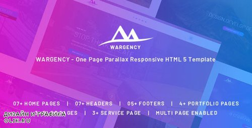 ThemeForest - Wargency v1.0 - Onepage Creative Agency Responsive HTML5 Template - 24708794