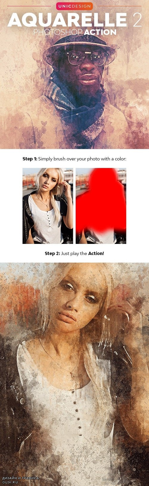Aquarelle 2 Photoshop Action 24571911
