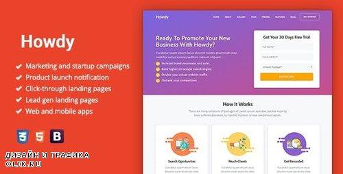 ThemeForest - Howdy v1.0.2 - Multipurpose High-Converting Landing Page WordPress Theme - 23600197