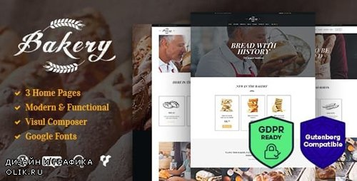 ThemeForest - Bakery v1.8 - Sweets Cafe & Pastry Shop WordPress Theme - 15203101