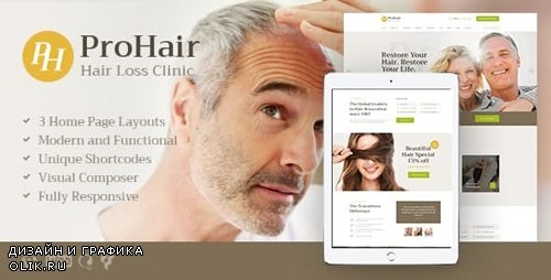 ThemeForest - ProHair v1.2.1 - Hair Loss Clinic & Cosmetology WordPress Theme - 20482735