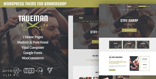 ThemeForest - Trueman v1.4 - Hairdresser & Shaving Barbershop WordPress Theme - 16557573