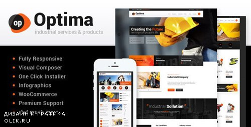 ThemeForest - Optima v1.8 - Steel Factory & Industrial Plant Manufactoring WordPress Theme - 11903580