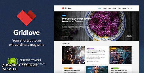 ThemeForest - Gridlove v1.9.5 - Creative Grid Style News & Magazine WordPress Theme - 17990371