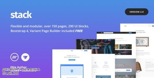 ThemeForest - Stack v2.0.6 - Multi Purpose HTML with Page Builder - 19337626