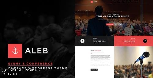 ThemeForest - Aleb v1.2.9 - Event Conference Onepage WordPress Theme - 13429442