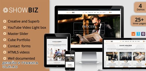 ThemeForest - Showbiz v1.0 - Multipages Business HTML Template - 21548113