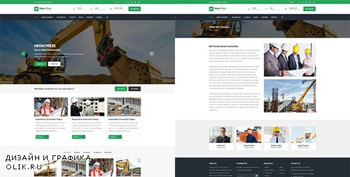 ThemeForest - Neon-Press v1.0 - Construction Business HTML template - 18552624