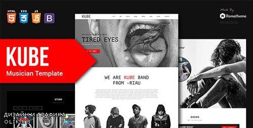 ThemeForest - Kube v1.0 - Musician, DJ, Band, Music HTML Template - 24304271
