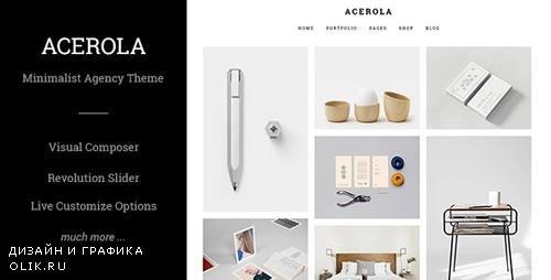 ThemeForest - Acerola v1.6.1 - Ultra Minimalist Agency Theme - 12437647