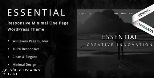 ThemeForest - Essential v1.9 - Responsive Minimal One Page WordPress Theme - 19732646