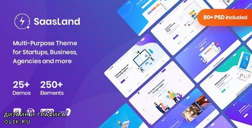 ThemeForest - Saasland v1.9.6 - MultiPurpose WordPress Theme for Startup - 23362980