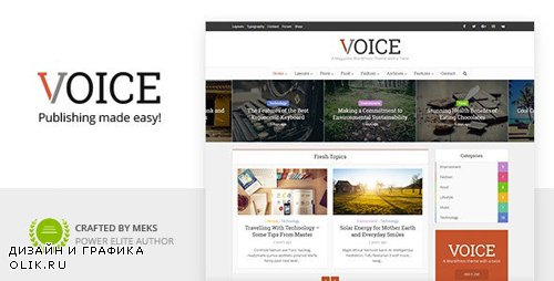 ThemeForest - Voice v2.9.3 - Clean News/Magazine WordPress Theme - 9646105