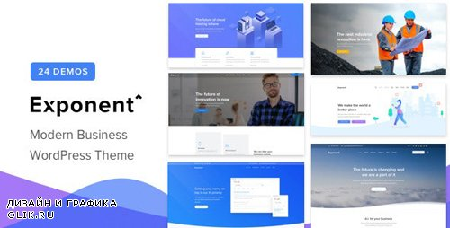 ThemeForest - Exponent v1.2.3 - Modern Multi-Purpose Business WordPress theme - 23211123