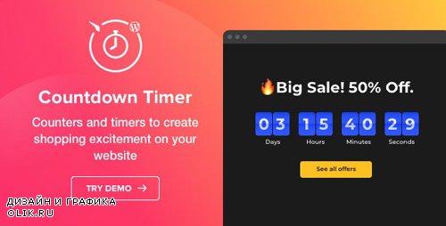 CodeCanyon - Countdown Timer v1.2.0 - WordPress Countdown Timer plugin - 23178172