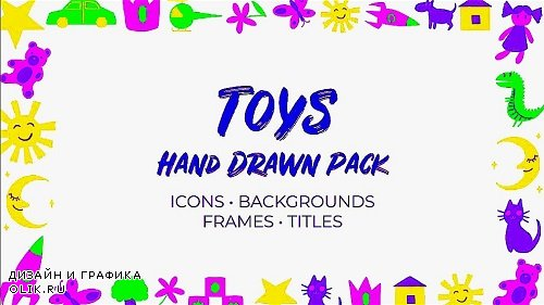 Kids & Toys Hand Drawn Pack 301510 - Premiere Pro Templates