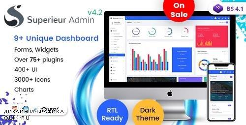 ThemeForest - Superieur v4.2 - Responsive Bootstrap 4 Admin Template Dashboard Web App - 22172702