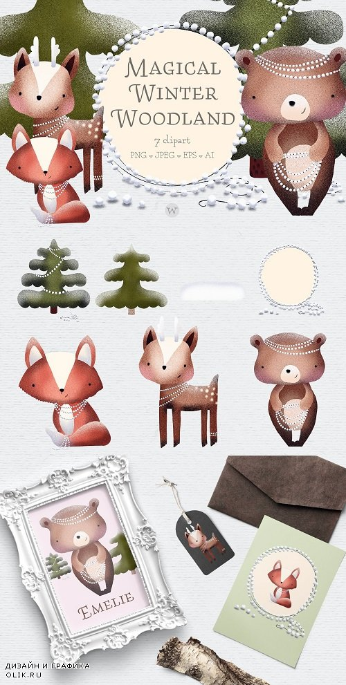 Woodland creature clipart 4166575 - Scandinavian Woodland Animal Clipart 1844916