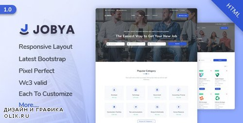 ThemeForest - Jobya v1.0 - Job Listing HTML5 Template - 24772106