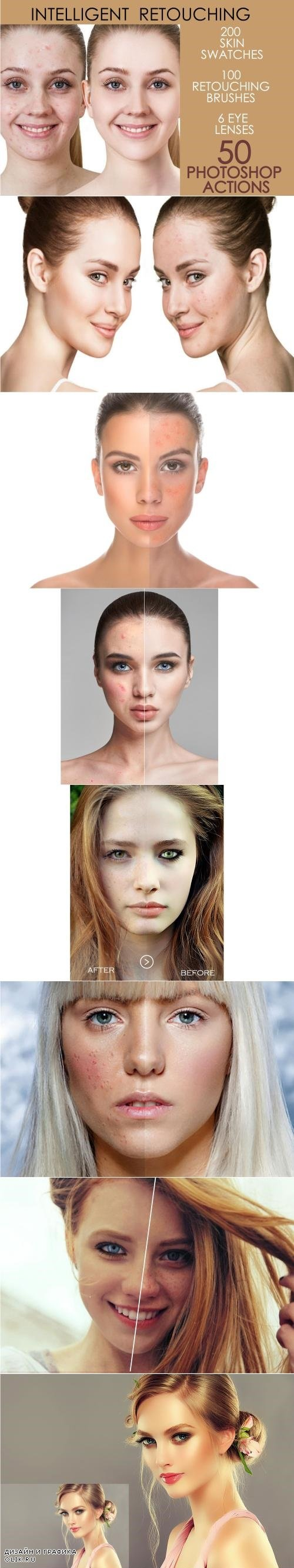50 Photoshop Actions Retouching Skin - 4167869