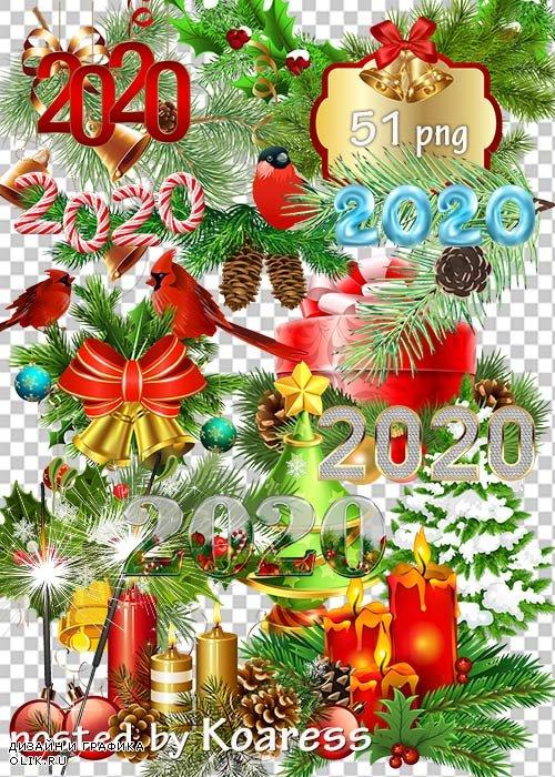 Клипарт без фона - Новогодние украшения