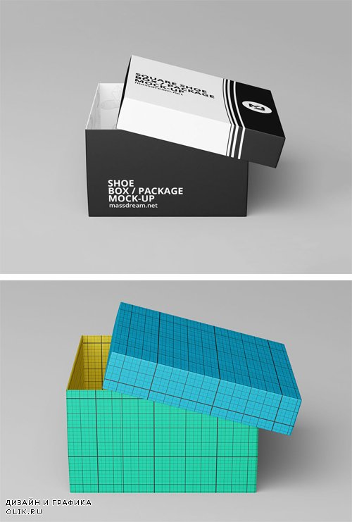 Shoe Box Mockup Psd