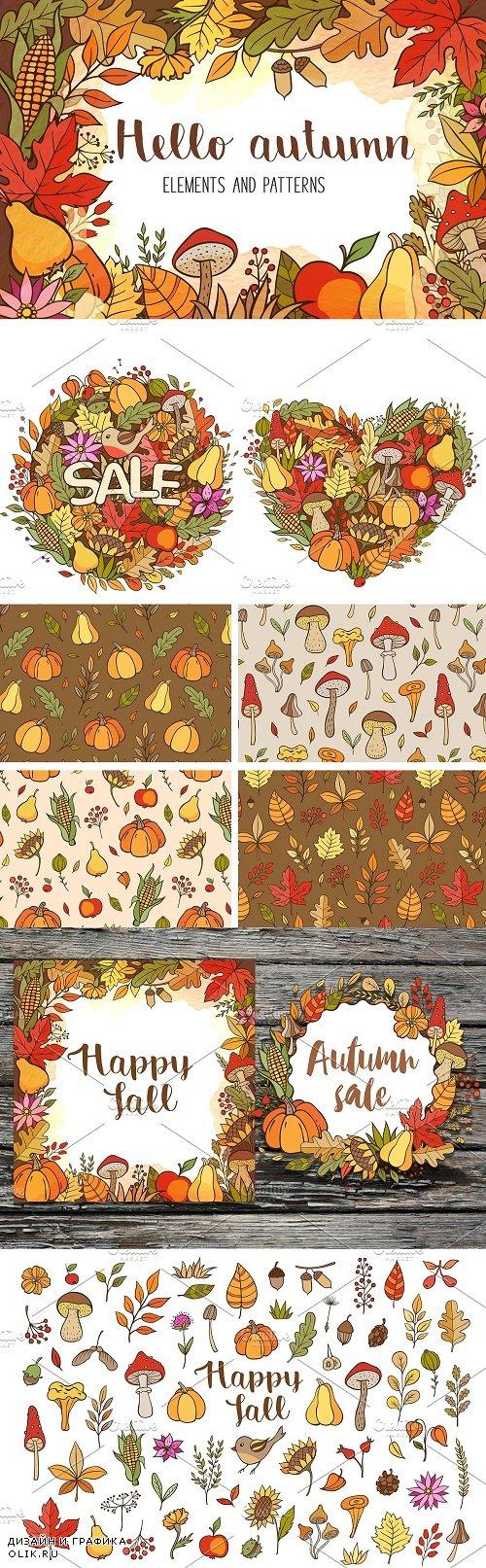 Doodle Autumn Design Kit - 4188851