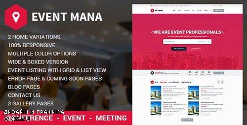 ThemeForest - Event Mana v1.8.5 - Event Management WordPress Theme - 13011506