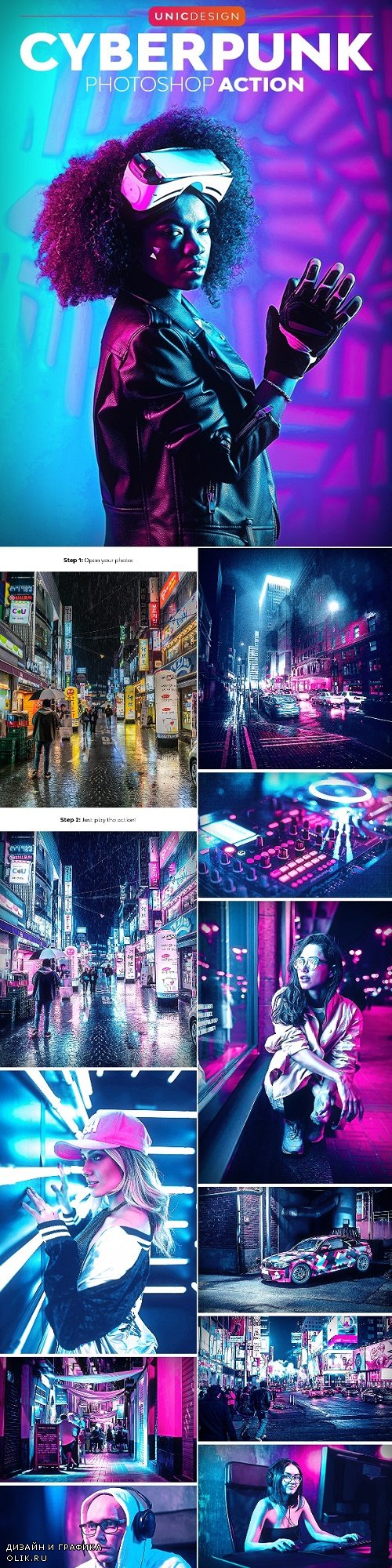 CyberPunk Photoshop Action - 24648553
