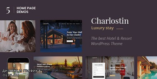 ThemeForest - Charlostin v1.0 - Hotel & Resort Booking WordPress Theme (Update: 22 March 19) - 22806102