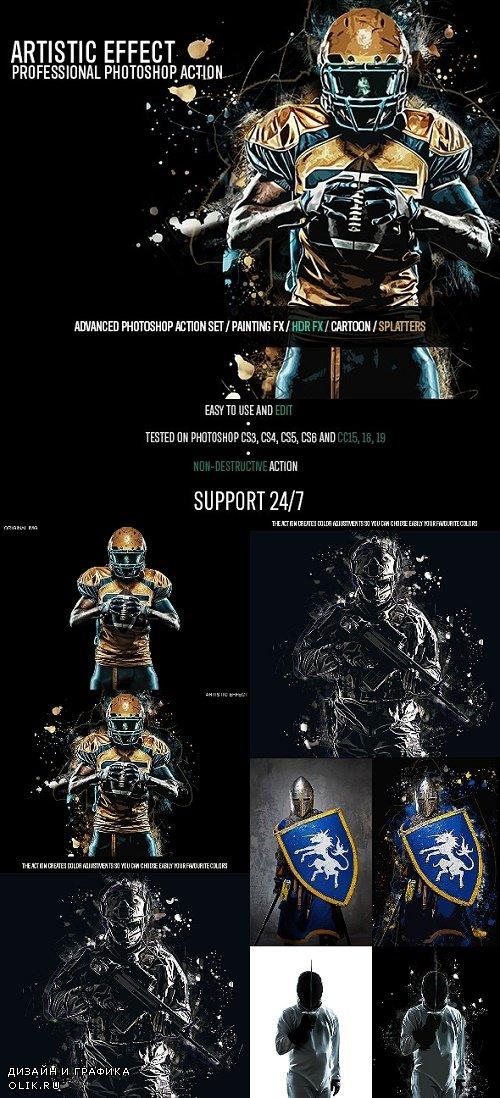 Artistic Photo Effect - Photoshop Action 24590274