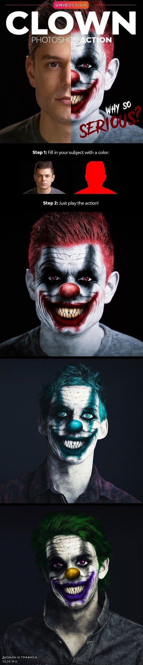 Clown Photoshop Action - 24789255