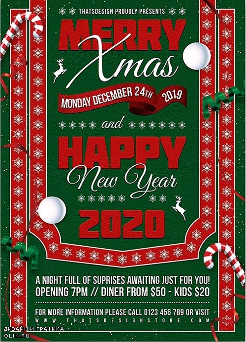 Christmas Eve Flyer Template V10 - 4222296