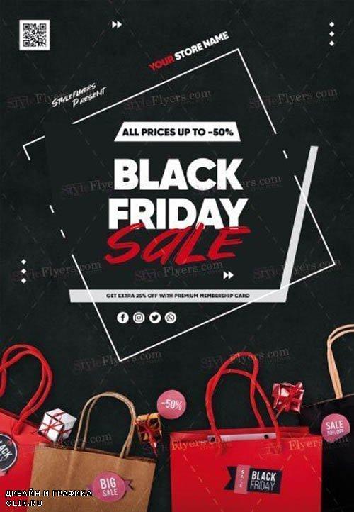 Black Friday Sale V1710 2019 PSD Flyer Template