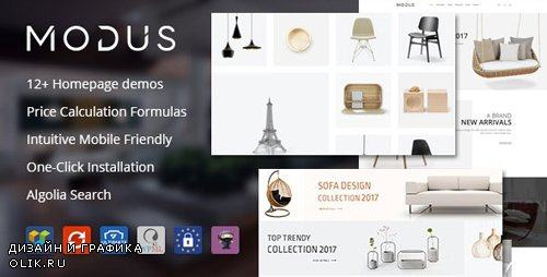 ThemeForest - Modus v1.5.3 - Modern Furniture WooCommerce Theme - 21278889