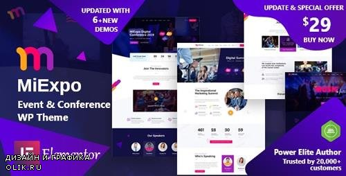 ThemeForest - MiExpo v1.0 - Event Conference Elementor WordPress Theme - 24209857