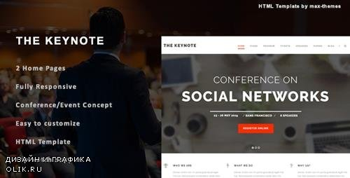 ThemeForest - The Keynote v1.0 - Conference/Event HTML Template - 23990749