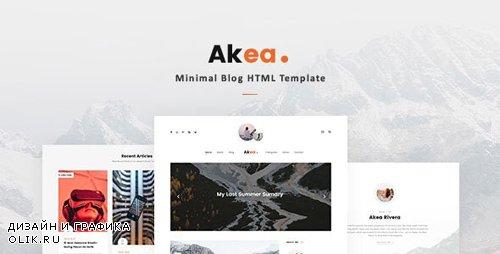 ThemeForest - Akea v1.0 - Minimal Blog HTML Template - 24066849