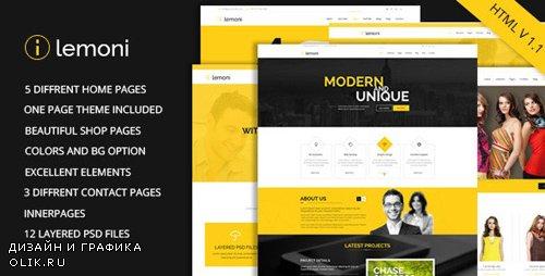ThemeForest - Lemoni v1.1 - Multipurpose HTML5 Template - 8849616