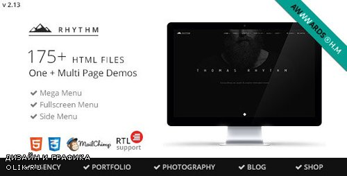 ThemeForest - Rhythm v2.13 - Multipurpose One/Multi Page Template - 10140354