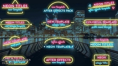 Lower Thirds Neon Pack 302980 - After Effects Templates