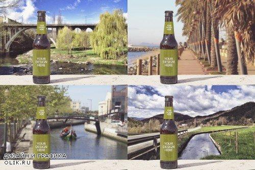Front Backgrounds Beer Mockup - 4180472