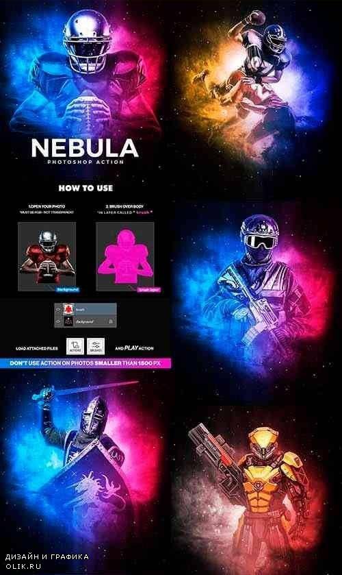 Nebula Photoshop Action 24837553