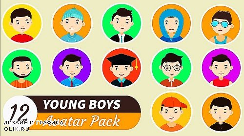 Young Boys Avatar Pack 303306 - After Effects Templates