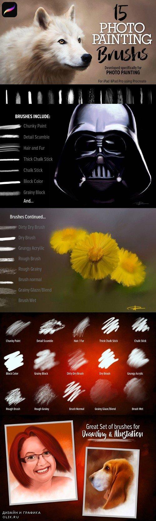 15 Photo Painting Brushes - 2735307