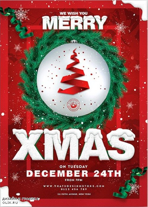 Christmas Eve Flyer Template V11 - 4256903