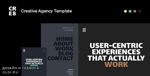 ThemeForest - CRE8 v1.0 - Creative Agency HTML Template - 26 September 19 - 24683896