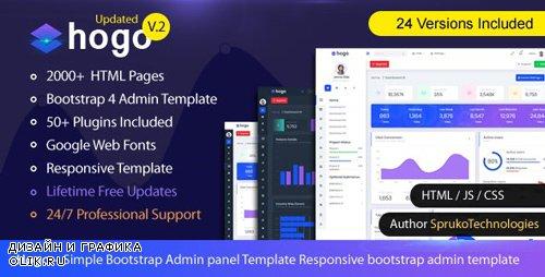 ThemeForest - Hogo v2.0 - Clean Multipurpose Responsive Bootstrap Simple Admin Panel Template - 23468683