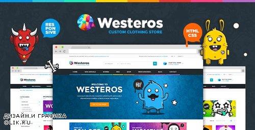 ThemeForest - Westeros Custom Clothing Responsive HTML Template (Update: 1 November 19) - 14119590