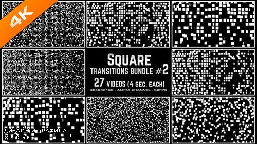 Videohive - Square Transitions Bundle 2 - 4K - 23658977